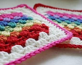 Crochet Pattern, Granny Stripe Square