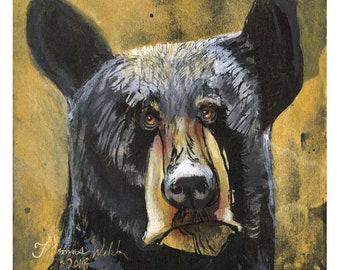 Gus(Fine Art Print not a real Black Bear)