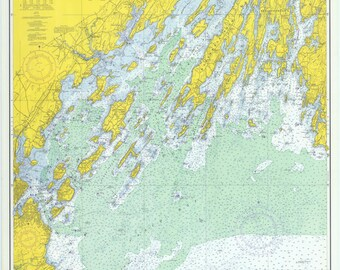 Casco Bay Maine Map 1971