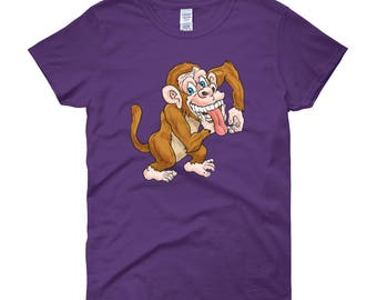 Laughing Monkey Woman T-Shirt