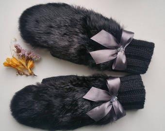 Gloves, mitts, handmade, knitting