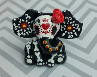 Polymer clay day of the dead elephant