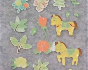 Assorted Cutie Mixed PVC Horse Stickers