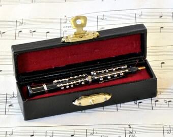 Oboe Brooch Pin in Case - Music Brooch - Oboe Gift - Music Jewellery