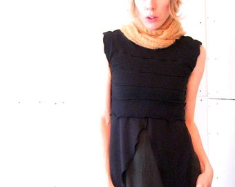 DEMI TOP  half top, crop top, best selling, custom, hand made, treehouse 28, ruffled shirt womens top, made to order