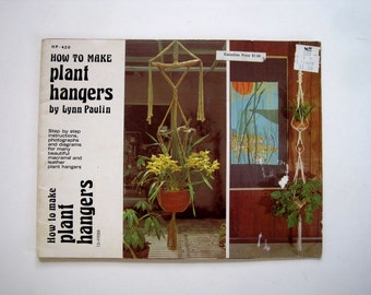 Making Plant Hangers - Macramé Instruction Book - Patterns for Knotting Leather Plant Hangers