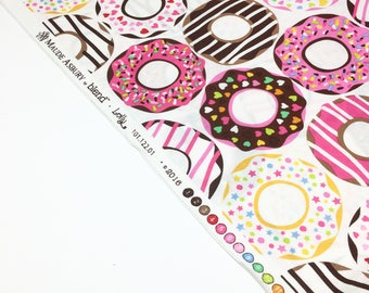 BLEND FABRIC LOLLY donut printed cotton