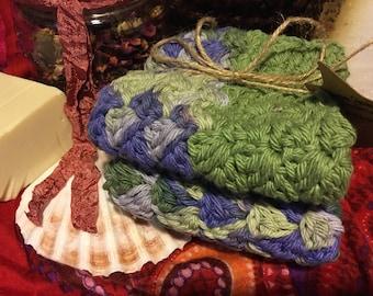 Handmade 100% cotton wash/dish cloth