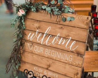 Welcome Sign   Custom wedding sign   planked wedding sign   Wedding Wood Sign   Custom Wedding Decor   Personalized wedding sign