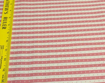 Dusty Pink Striped Cotton Fabric