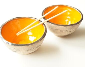 Pho Noodle Bowl, Set of Two, Ceramic Bowl, Hot Pot Bowl, Ramen Bowl, Miso Bowl, Rice Bowl, Pottery Bowl, Handmade Bowl, Asian Food Bowl