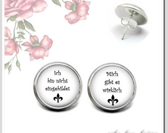 "Stud Earrings 5 Version colors to choose ""I'm not a figure, there's really"" OSH-012-208"