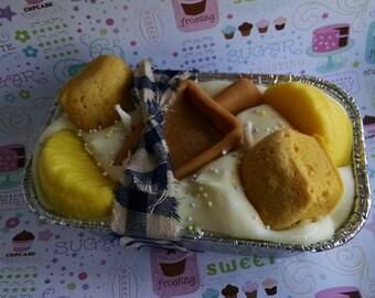 Zitrone Zucker, Kuchen, Laib Kerze, Soja-Wachs-Kerze, Bäckerei Duft, Handpoured Kerze, Dessert Kerze, Kerze Süßwaren, umweltfreundlich