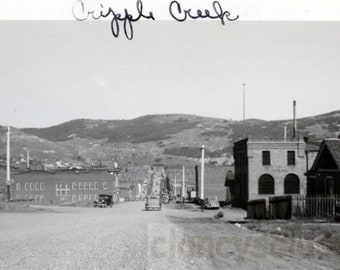 vintage photo 1930 Cripple Creek View of Town from End of Road Colorado