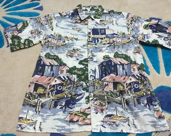 Rare REYN SPOONER Hawaii Traditionals Shirt Sz M 100% cotton....