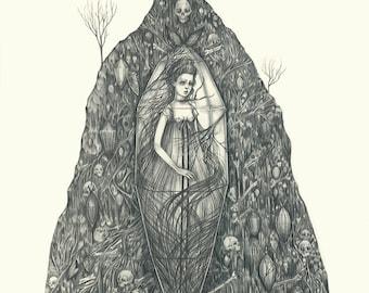 LARGE PRINT - Glass Coffin