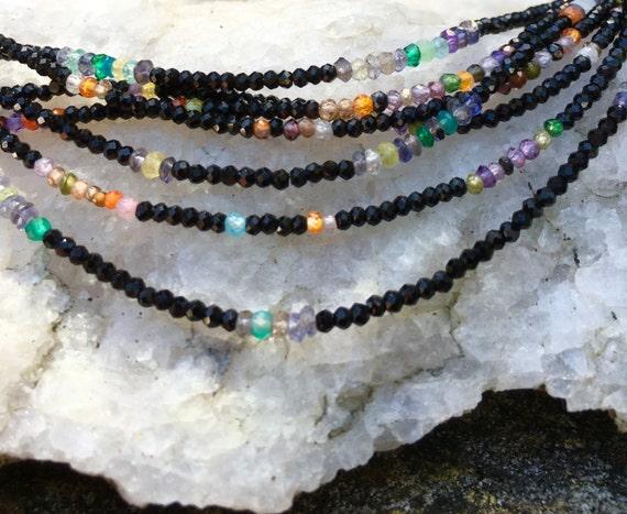 Black Spinel & Mixed Gemstones
