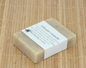 Oatmeal Lavender Essential Oil Soap, 4 Ounces