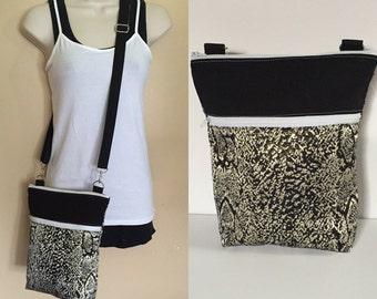 Sale***Black with gold matallec, adjustable Crossbody/sling/hobo/shoulder bag