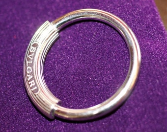 Ref: 187  SALE - Solid silver BULGARI designer key chain. TCW. 12.5 g