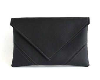 Black Clutch Purse Womens Gift For Mom Clutch Bag Evening Bag Vegan Leather Clutch Vegan Bag Evening Clutch Vegan Purse Black Crossbody Bag