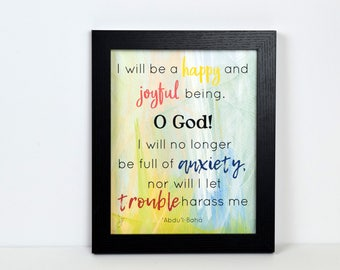Happy and Joyful Being Quote | Print