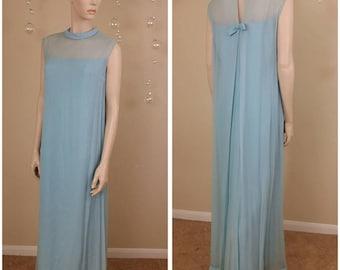 vintage 70s long maxi dress by Emma Domb ,Neiman Marcus size 11