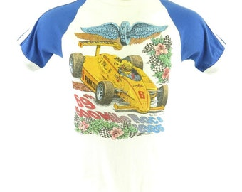 Vintage 80s Indy 500 Indianapolis Speedway T-Shirt M Deadstock Racing 1985 [H80F_0-7]