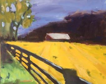 original landscape oil painting, oil painting, landscape painting, oil on archival panel