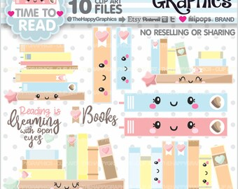 Book Clipart, 80%OFF, Book Graphics, COMMERCIAL USE, Bookshelf Clipart, Bookshelf Graphics, Book Images, Book Lover, Reading Clipart, Read