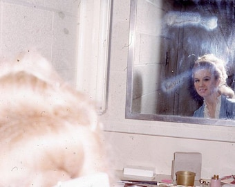 Vintage Photo 35mm Slide Abstract Woman Mirror Reflection #3