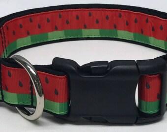 dog collar, watermelon 2, watermelon dog collar, watermelon collar, summer dog collar, summer collar, summertime, summer