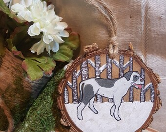Pit bull ornament, ready to ship,