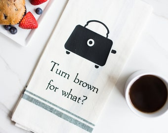 Funny Kitchen Towel - Dish Towels - Funny Tea Towels - Hand Towels - Bridal Shower Gift - Appreciation Gift - Toaster - Food Pun - Funny Rap