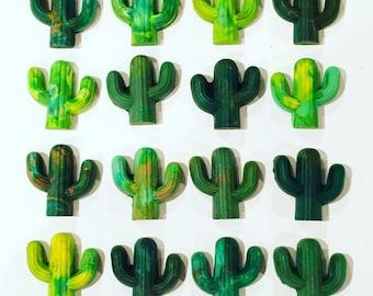 CACTUS Crayons - Recycled Rainbow Cactus Crayons - Boxed Set of 4 Recycled Mini Cactus Crayons - Gift Set - Kids Gift