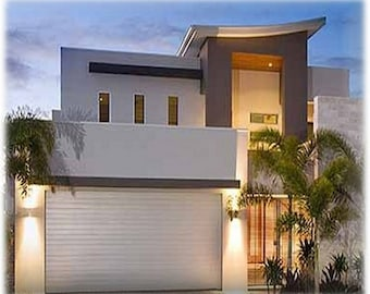 Modern House Concept Plans For Sale /426 m2 /4580 sq feet/  4 Bed + Office + Home Cinema Narrow Lot Design