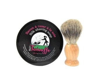 Women's Shaving soap with shaving brush