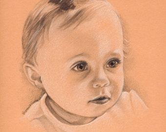 Custom Children's Pencil Portrait
