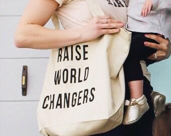 Raise World Changers XL Organic Tote