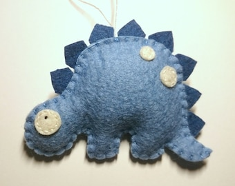 Felt Stegosaurus animals in BLUE Dinosaur ornament kids room ideas Nursery decor Christmas home decoration