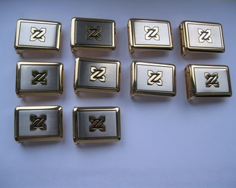 BELT BUCKLE solid BRASS  30 mm (1.18'') made in Italy x 10