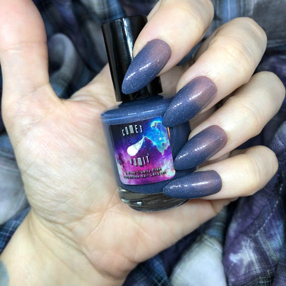 Sweather v2.0 color changing nail polish rose nude to periwinkle blue thermal vegan