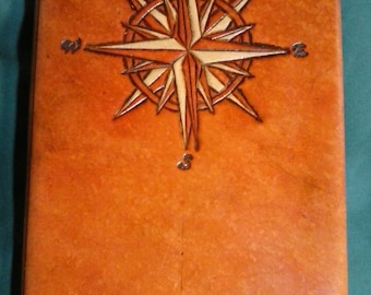 Custom Large Compass Rose Journal Set to Reflect a Specific Place in Time