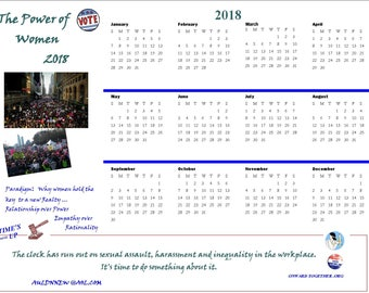Calendar 2018  Year of the Women and Power of Women March Printable 2  Downloads
