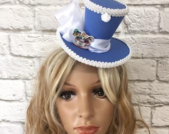 Alice in Wonderland Mini Top Hat, Mad Hatter Mini Top Hat, Tea Party Top Hat