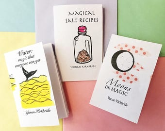 Witchcraft Mini-Zines: Moon Magic, Salt Recipes, and Waters in Witchcraft