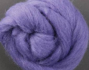 NZ Corriedale Wool  - Lilac Roving