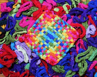 """Cotton blend loopers for traditional 7""""-8"""" potholder looms, refills, bright colors, recycled!"""
