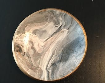Marbled Clay Jewelry Dish