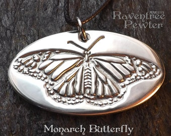 Monarch Butterfly - Pewter Pendant -  Nature Transformation Jewelry, bringing us Joy and positive change.